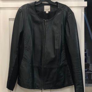 Women's plus leather jacket